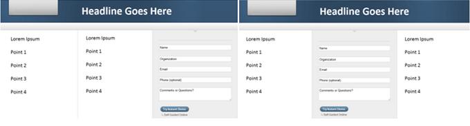 Landing Page AB Test