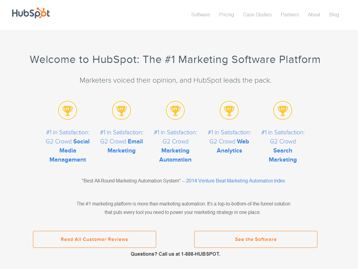 great landing page examples