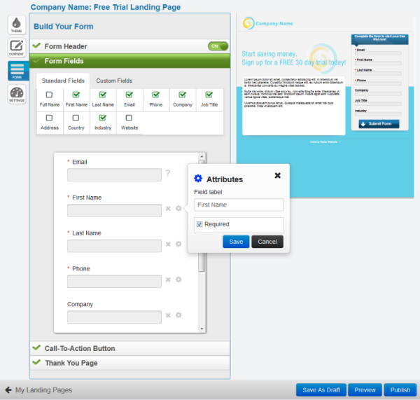 Create forms and set up conversion tracking
