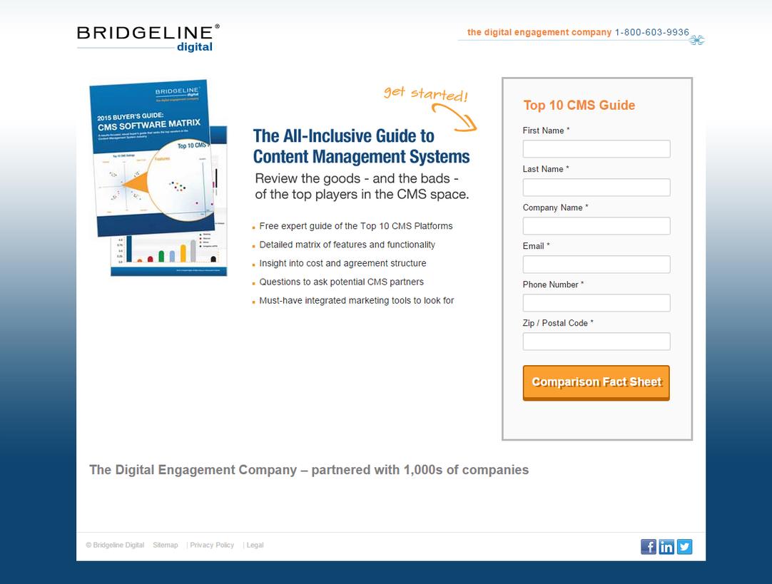 Landing page ideas blue color scheme