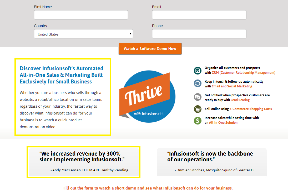 top landing page examples