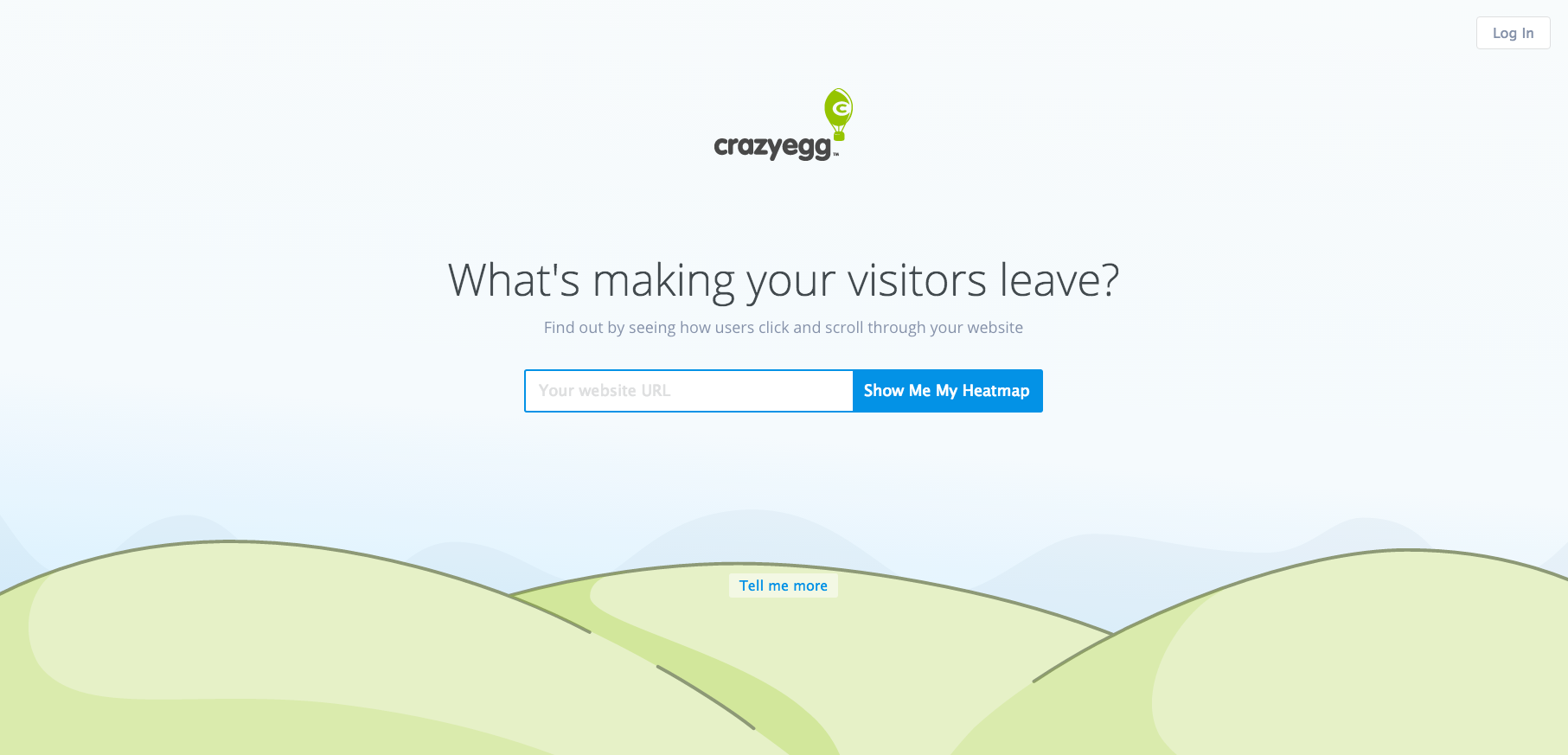Landing page mistakes CrazyEgg example