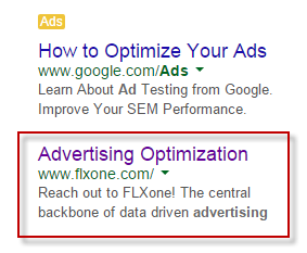 Landing page relevance ad optimization ad