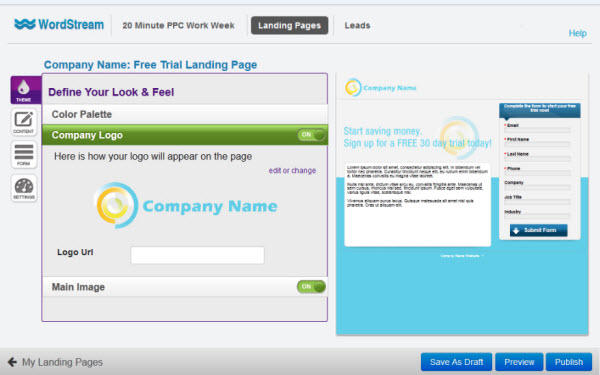 Landing Page Software Theme and Logo