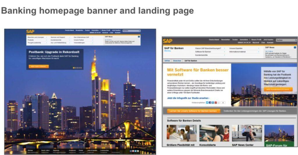 landing page tests personalize by vertical