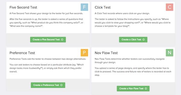 landing page tests