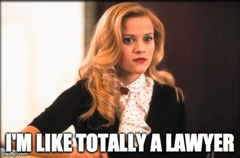 "Law firm marketing gif from Legally Blonde ""I'm like totally a lawyer"""