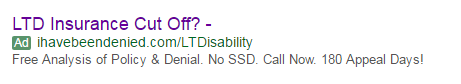 old adwords search ad for lawyer account