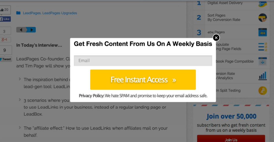Lead generation strategies LeadPages LeadBox