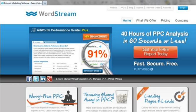 Lead generation strategies WordStream AdWords Grader