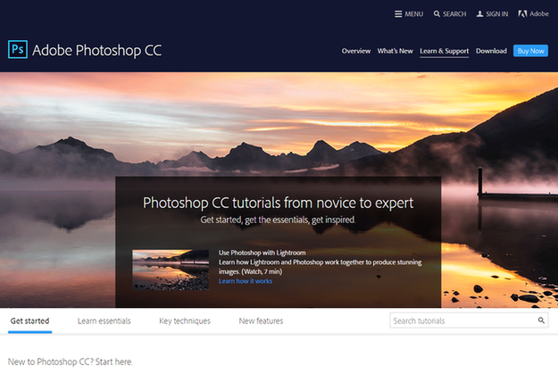 Learn Photoshop Adobe resources