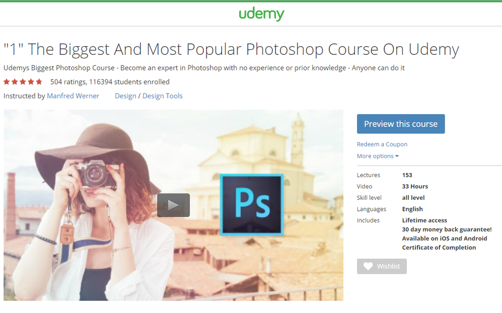 Learn Photoshop Udemy