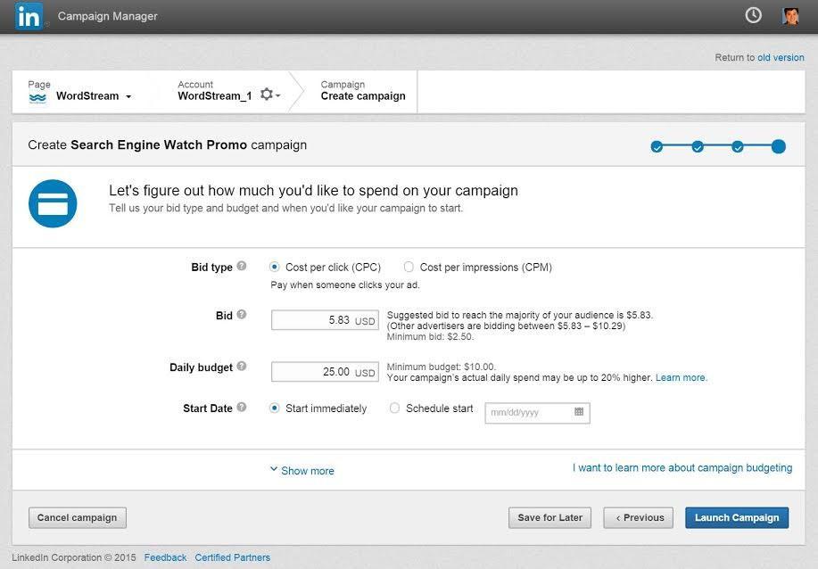 LinkedIn Ads cost per click