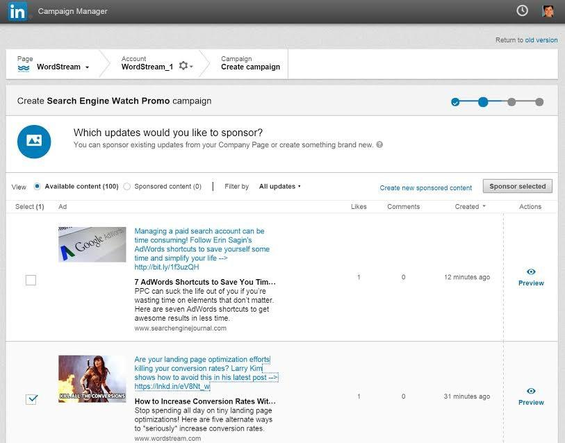 LinkedIn Ads Campaign Management tool