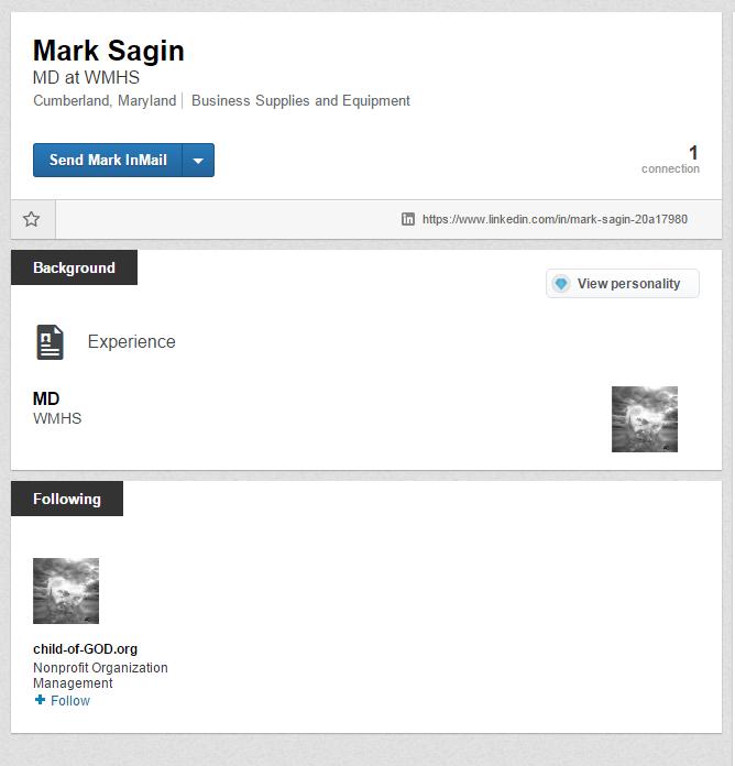 dad's linkedin profile