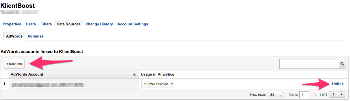 adwords and analytics link