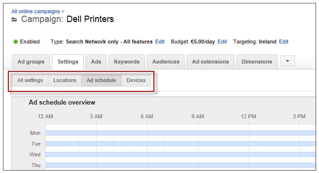 Local marketing tips dayparting AdWords