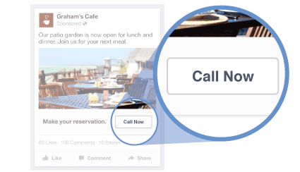 Local marketing tips Facebook Call Only ads