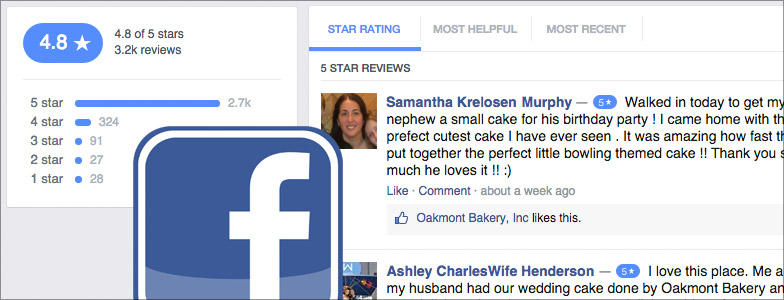 Local marketing tips Facebook reviews