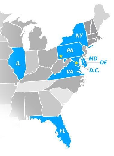 local business marketing map mid Atlantic region