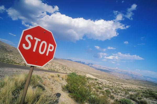 Low CTR strategy stop sign