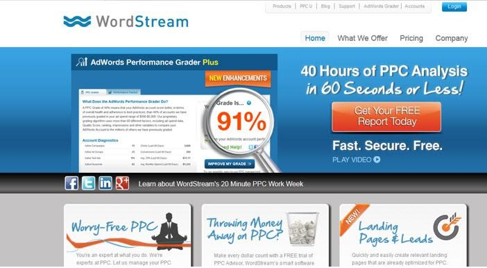 Low CTR strategy WordStream new offer banner