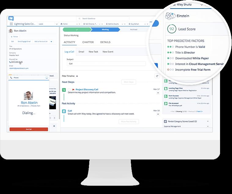 Machine learning Salesforce Einstein AI technology