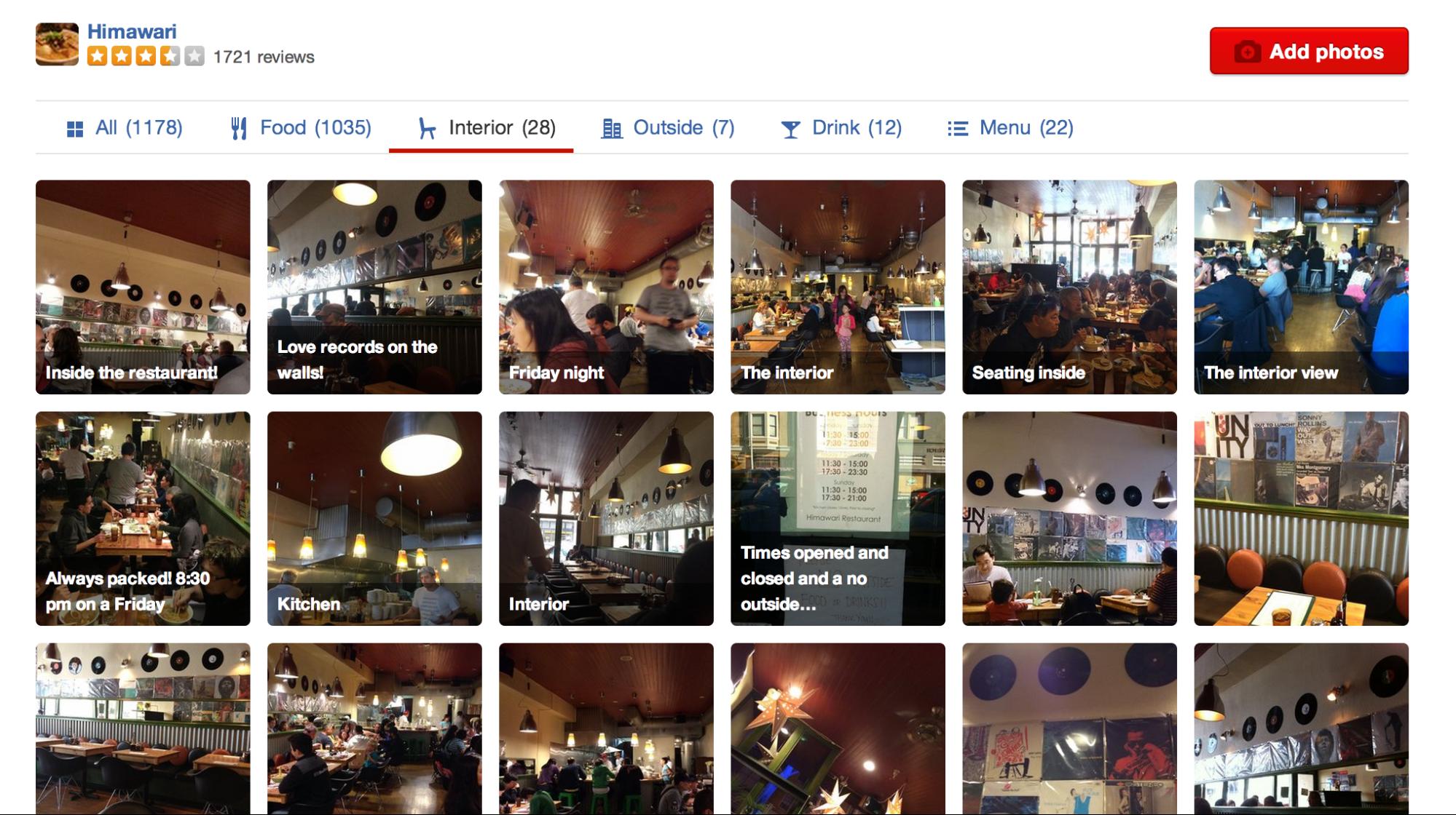 Machine learning applications Yelp image categorization