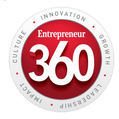 Marketing awards Entrepreneur360 award logo