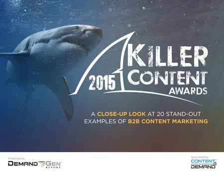 Marketing awards Killer Content Awards 2015