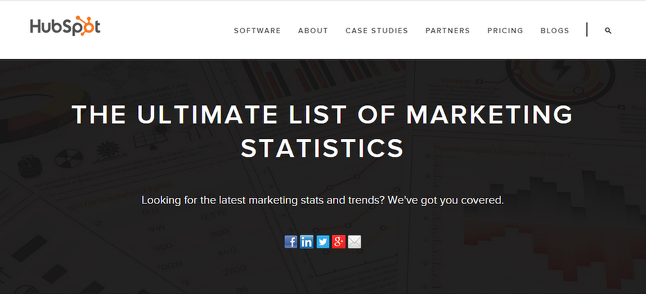 Marketing data HubSpot example