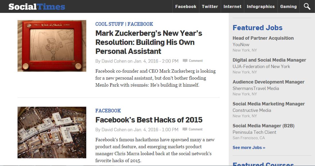 Marketing news SocialTimes