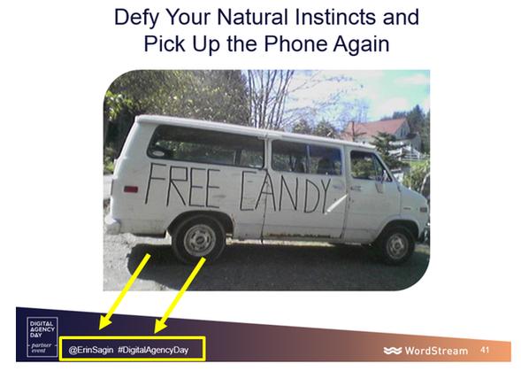 twitter details on slide
