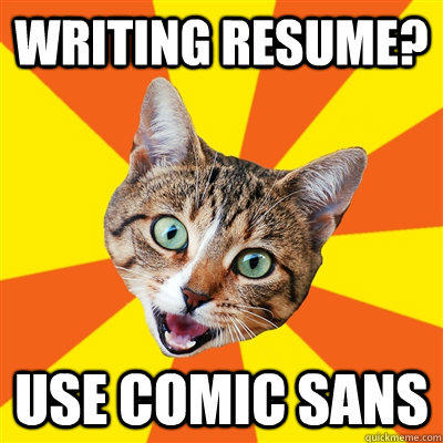 marketing resume fonts