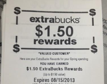 cvs extrabucks reward