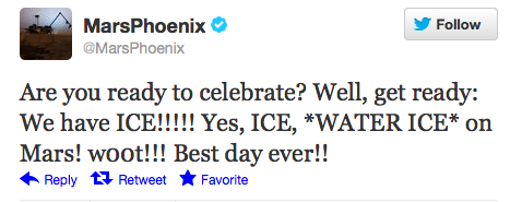Famous Mars Phoenix Tweet