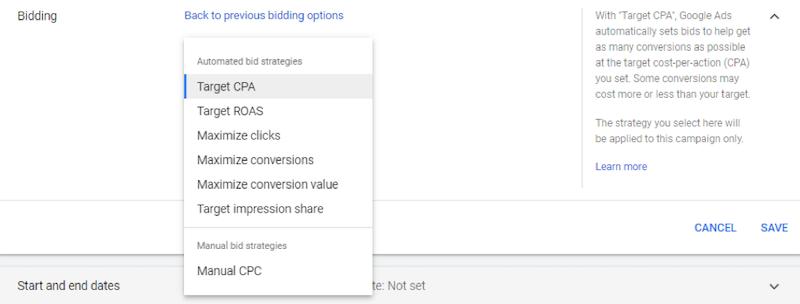 Anúncios do Google concedem lances
