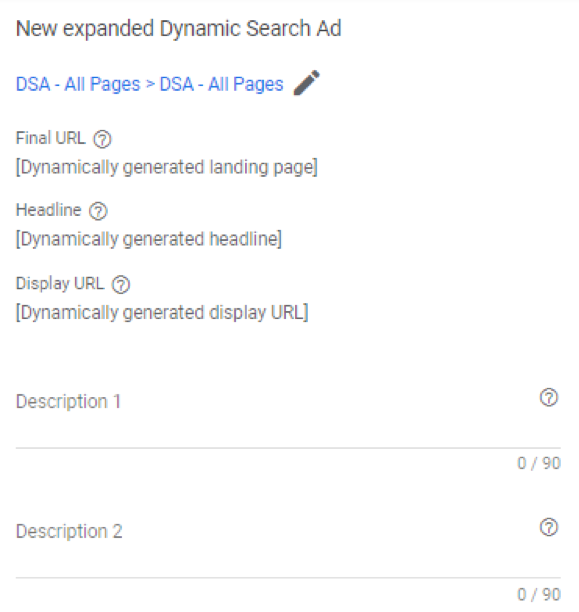 Google ads grants expanded dynamic search ad