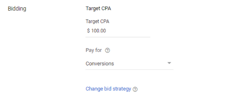 Google display during COVID 19 Target CPA