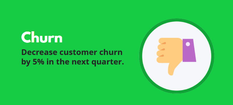 marketing objectives decrease churn