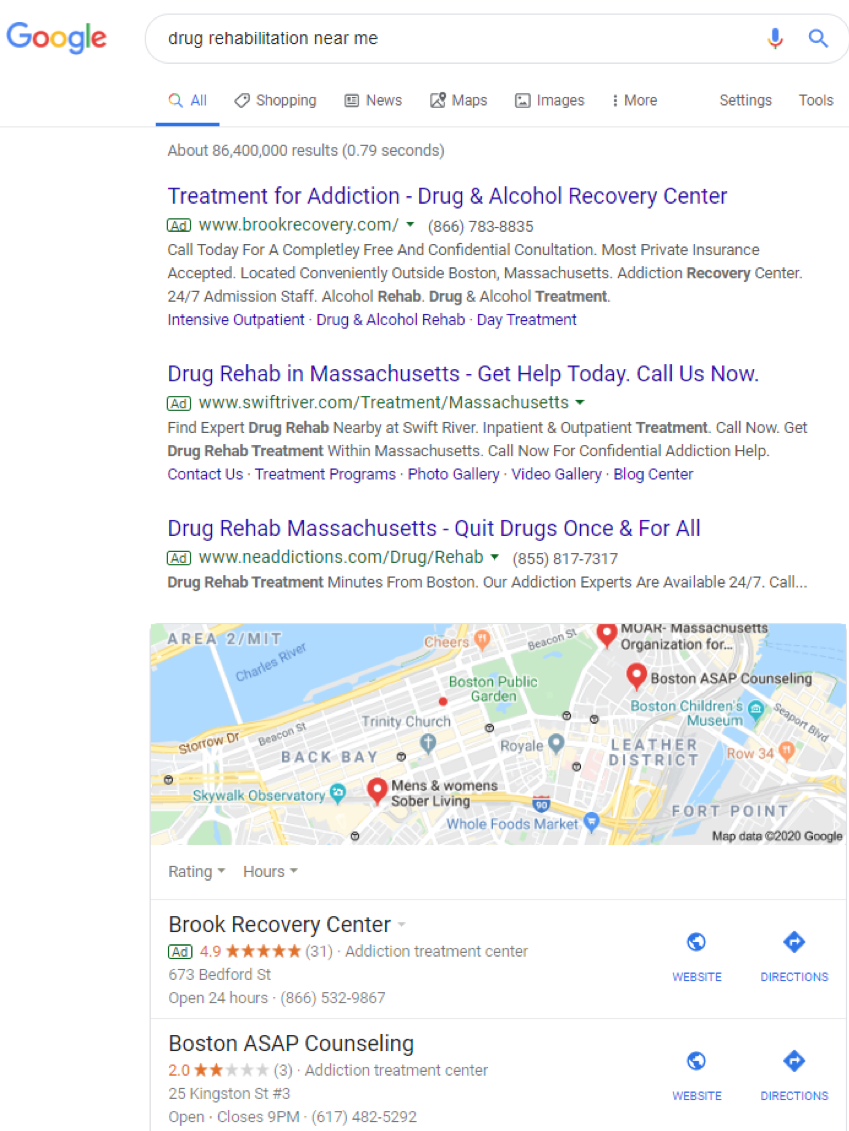 PPC Campaigns for Rehab Facilities on Google