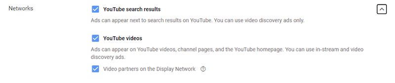 YouTube ads placement targeting select targeting options