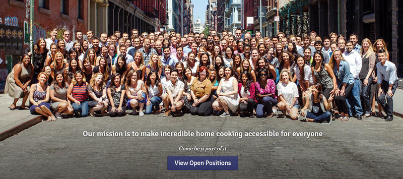 blue apron about us page guide