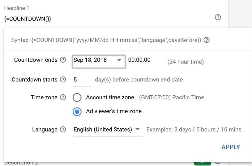 ad automation countdowns