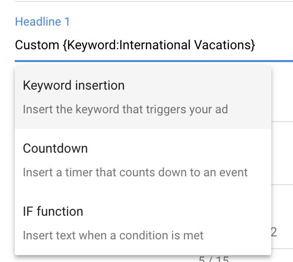 ad automation keyword insertion