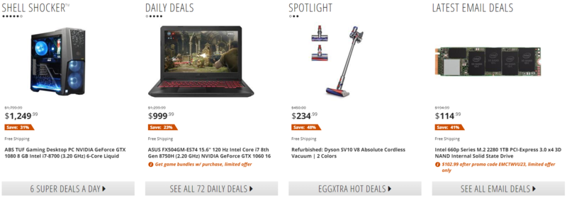 amazon-alternatives-newegg-product-listings