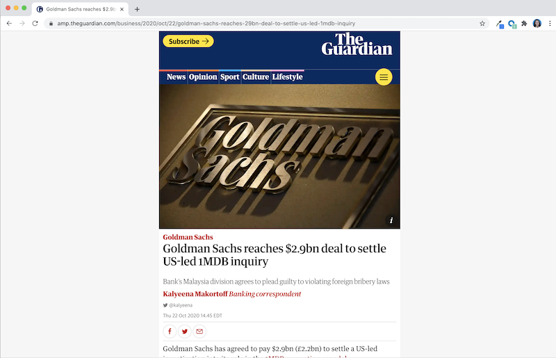 amp version of guardian news story