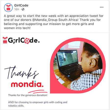 august marketing ideas—facebook post for girls who code