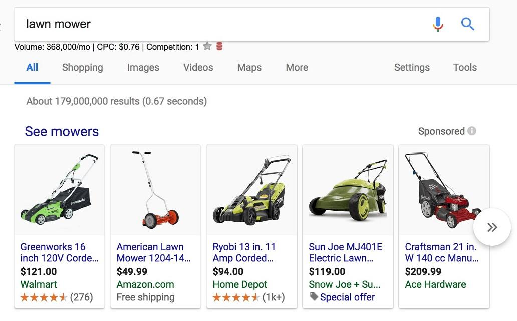 lawn mower ads