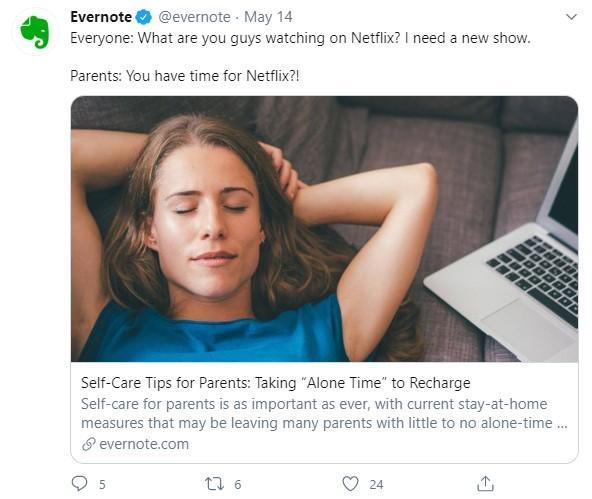 Evernote tweet